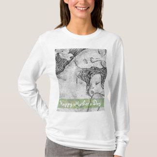 T-shirts du jour de mère d'art de mère et d'enfant