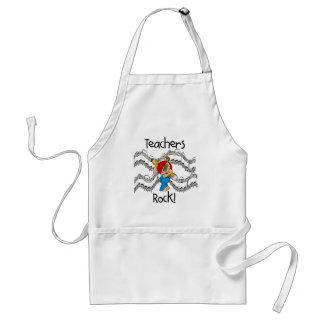 T-shirts et cadeaux de roche de professeurs de chi tablier
