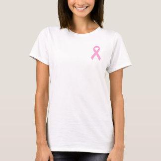 T-shirts roses de conscience de cancer du sein de