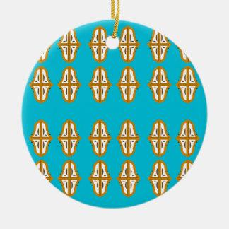 T-Shirts und anothers Material mit dem Mandalas Rundes Keramik Ornament