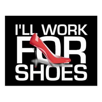 T-STÜCK Arbeit für Schuhe Postkarte