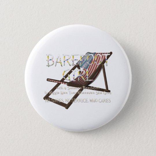 T-STÜCK barfüßigmädchen Runder Button 5,7 Cm