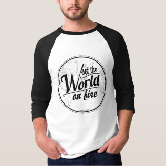 T-Stück-Set der Baseball der Männer die Welt auf T-Shirt