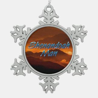 T-STÜCK Shenandoah Mann Schneeflocken Zinn-Ornament