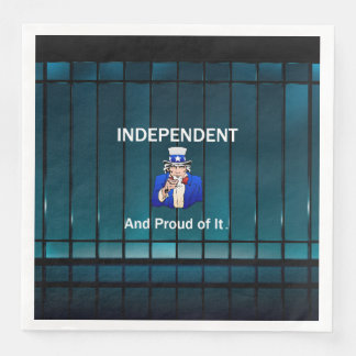 T-STÜCK unabhängig und stolz auf es Papierservietten