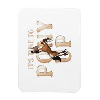 T-STÜCK Zeit zum Pony oben Magnet