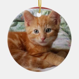 Tabby-Kätzchen Keramik Ornament