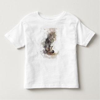 Tabby-Katzen-Aquarell Kleinkind T-shirt