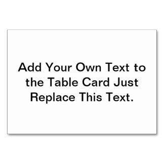 Tabellen-Karte schaffen Ihre Selbst