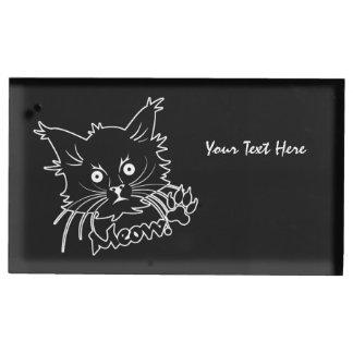Tabellen-Kartenhalter der schwarzen Katze