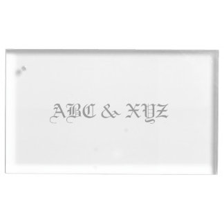 Tabellen-Kartenhalter-Monogramm