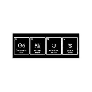 Tabellenelement-Briefmarke des Genies periodische Gummistempel
