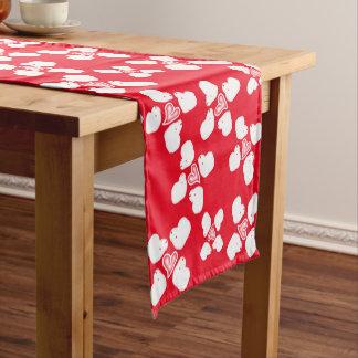 Tabellenläufer der roten und weißen Schafe des Kurzer Tischläufer