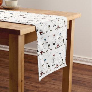 Tabellenläufer weißes niedliches Snowman Großer Tischläufer