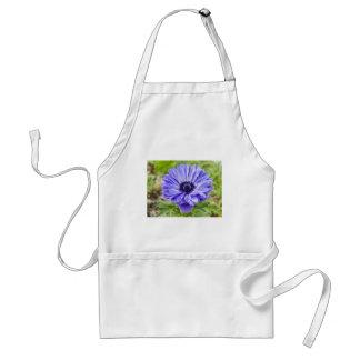 Tablier bleu de fleur d'aster