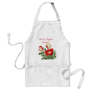 Tablier floral de Noël de fleur rose botanique de
