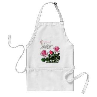 Tablier floral de Noël de fleurs botaniques de
