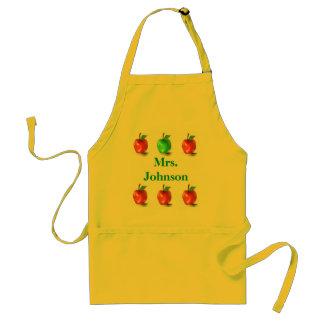 Tablier mignon d art de pommes de professeur