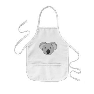 Tablier mignon d'ours de koala d'enfants
