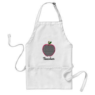 Tablier-Pied-de-poule Apple de professeur avec l'é