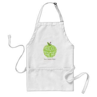 Tablier préscolaire de professeur - Apple vert