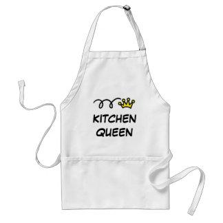 Tabliers de la Reine de cuisine humour à cuire et