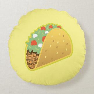 Taco Emoji rundes Wurfs-Kissen Rundes Kissen