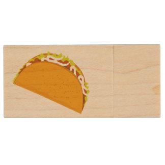 Taco-Fiesta-Zeit Holz USB Stick