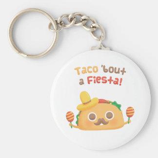 Taco-Kampf eine Fiesta-niedliche Nahrung macht Schlüsselanhänger