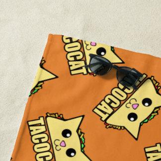 Taco-Katze gemustert Strandtuch