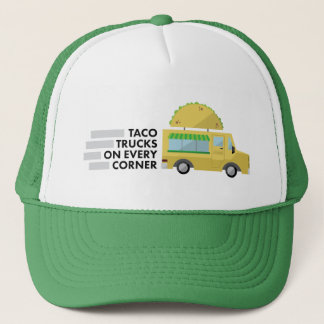 Taco-LKWs auf jedem Eckfernlastfahrerhut Truckerkappe