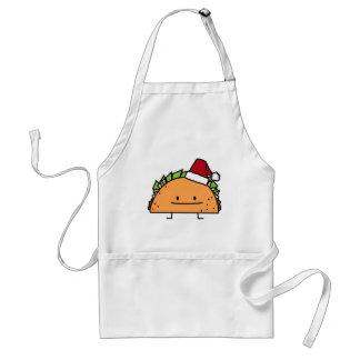 Taco-tragender Schürze