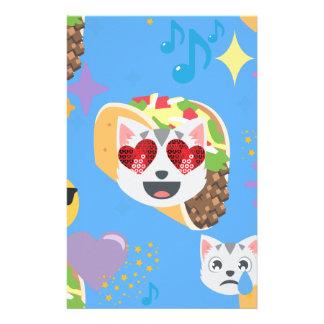 Tacokatze emoji briefpapier