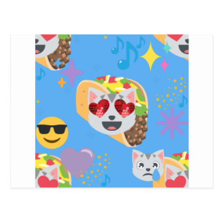 Tacokatze emoji postkarte