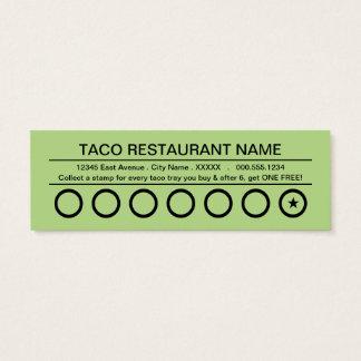 Tacos rapidos Lochkarte Mini-Visitenkarten