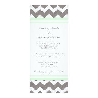 Tadellose graue Zickzack Verlobungs-Party 10,2 X 23,5 Cm Einladungskarte