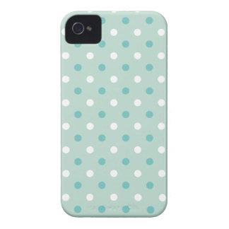 Tadellose grün-blaue Punkte Case-Mate iPhone 4 Hülle