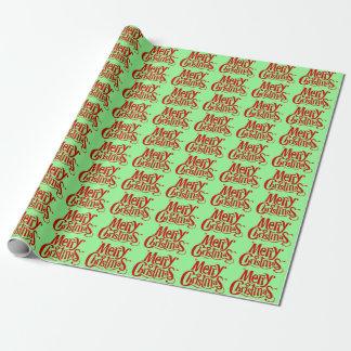 Tadellose grüne, frohe Weihnachten Geschenkpapier