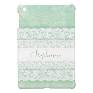 Tadellose grüne und weiße Spitze nannte ipad Hüllen Für iPad Mini