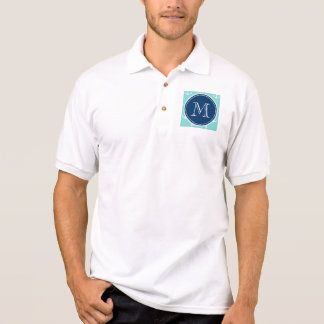 Tadellose grüne weiße Anker, Marine-Blau-Monogramm Poloshirt