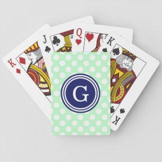 Tadellose Marine-Blau-weiße Tupfen 1IR Spielkarten