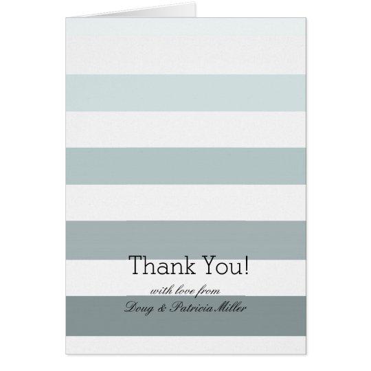 Tadellose Ombre Streifen danken Ihnen Mitteilungskarte