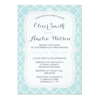 Tadellose Quatrefoil Hochzeits-Einladung Karte