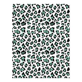 Tadelloser grüner schwarzer 21,6 x 27,9 cm flyer