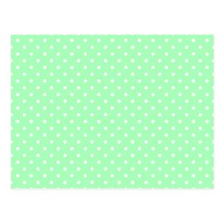 Tadelloser grüner und weißer Tupfen Postkarte