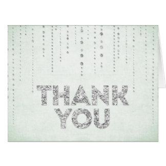 Tadelloser u. silberner Glitter-Blick danken Ihnen Grußkarten