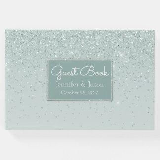 Tadelloses grünes Glittery Hochzeits-Gast-Buch Gästebuch