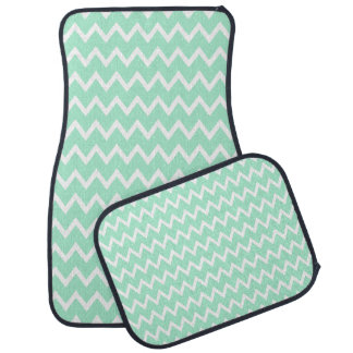 Tadelloses grünes und weißes Zickzack Muster Automatte