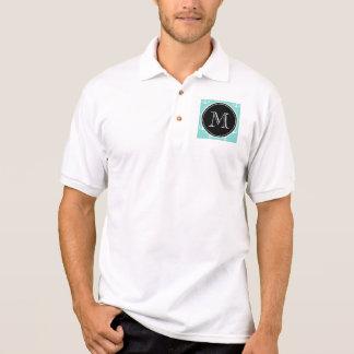 Tadelloses grünes weißes Anker-Muster, schwarzes Poloshirt