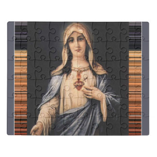 Tadelloses Herz trauriger Mutter Marys Puzzle